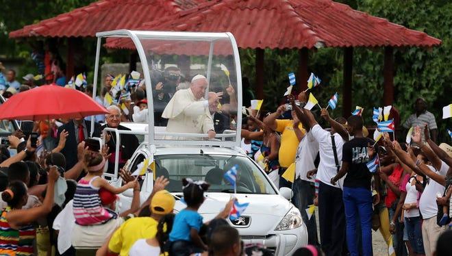 Pope Francis in Santiago de Cuba, Cuba, on Sept. 21, 2015.