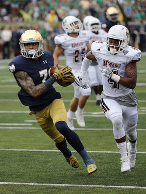 Notre Dame receiver Will Fuller would bring speed to the Lions' offense.