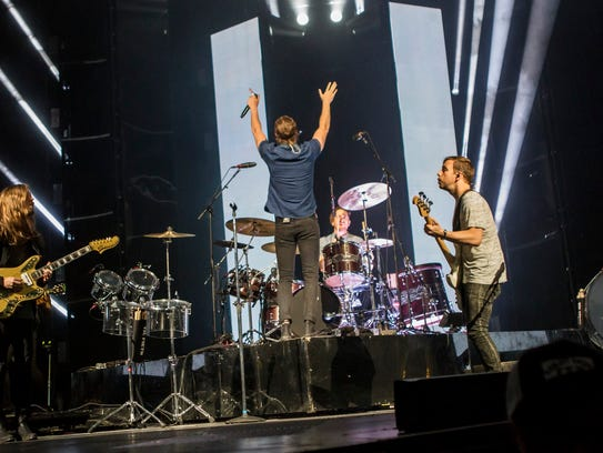Imagine Dragons performs at U.S. Airways Center on
