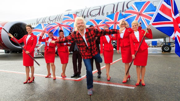 Sir Richard Branson, president of Virgin Atlantic,