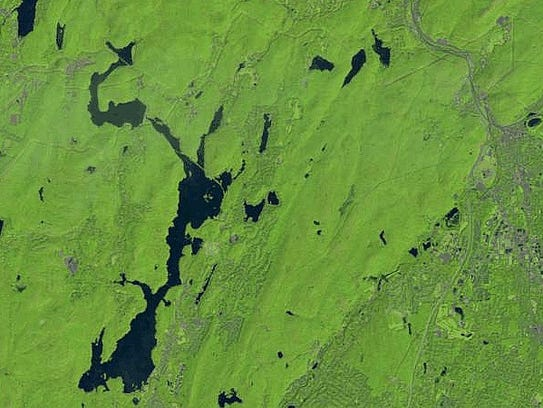 The Wanaque, bottom, and Monksville, top,  reservoirs