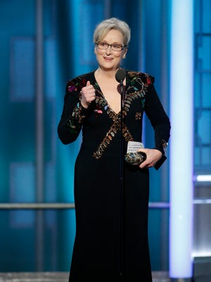 Meryl Streep got political during her speech at the 74th annual Golden Globes Sunday.