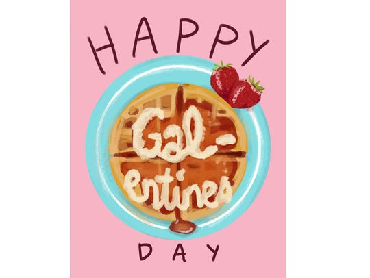 This card combines waffles and friendship-appreciation
