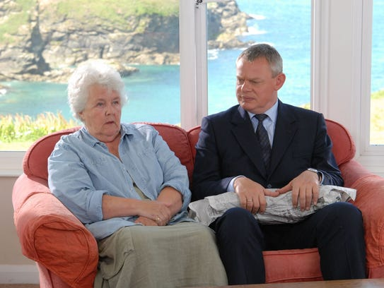 Stephanie Cole and Martin Clunes in 'Doc Martin'.