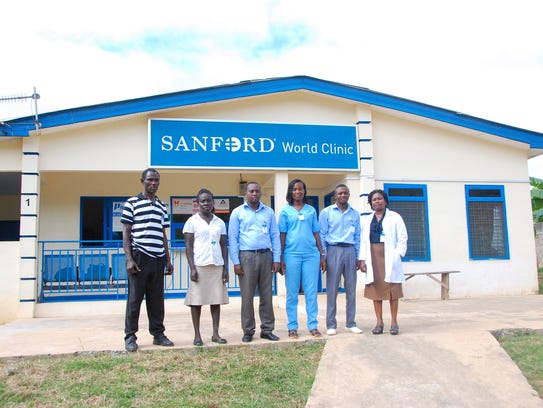 Staff of the Sanford World Clinic in Adenta, Ghana.