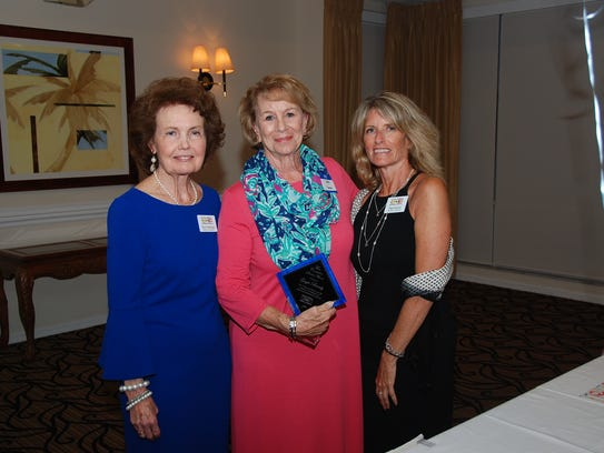 Betty Mulligan, left, Gayle Brinly, and Gigi Suntum.
