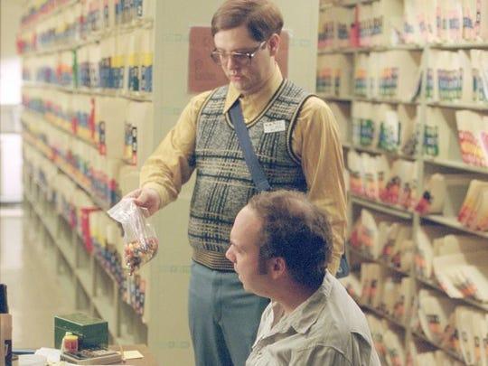 "Judah Friedlander and Paul Giamatti in ""American Splendor"" (2003)."