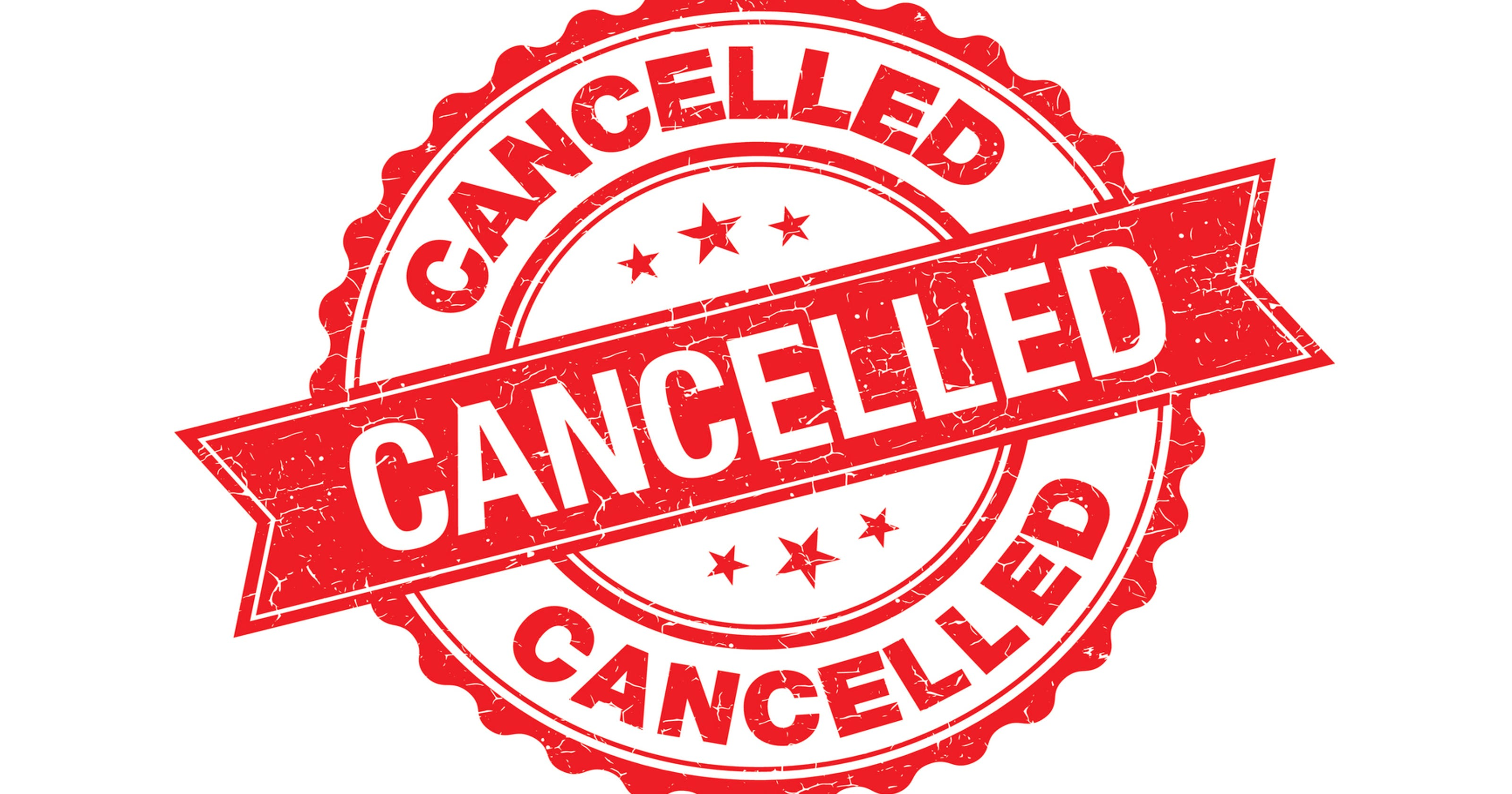 cancelled canceled stamp mass activities wisconsin weather events rubber rapids winter clip youth parish due cancellations saturday vector grunge benefit