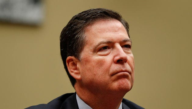 """FBI Director James Comey testifies on Capitol Hill in Washington on Sept. 28, 2016, before the House Judiciary Committee hearing  on """"Oversight of the Federal Bureau of Investigation."""" President Trump on Tuesday fired Comey."""