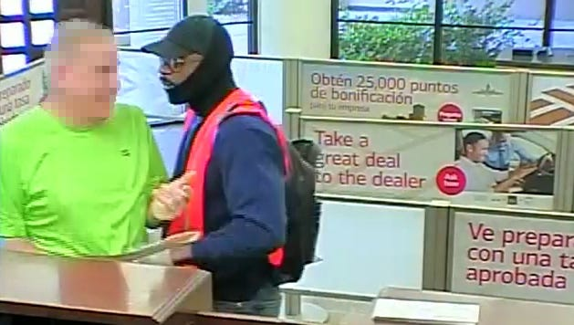 Chandler police released security footage of man (right) who robbed a Bank of America branch on Feb. 7, 2017.