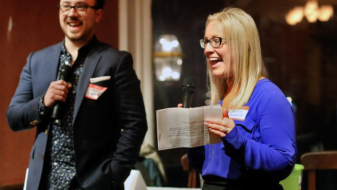 Catapult Seacoast co-chairs Nathaniel Morneault and Caitlin Konchek.