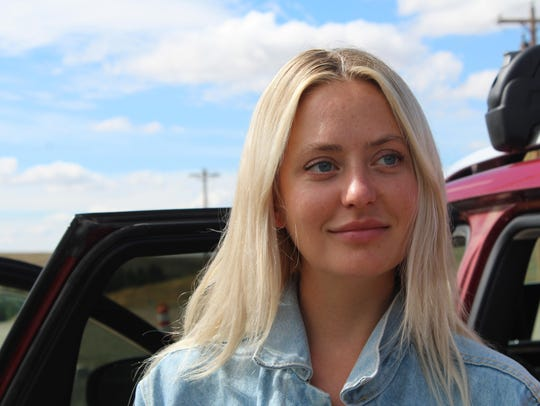 Alyonka Larionov waits for filming to conclude in Geraldine