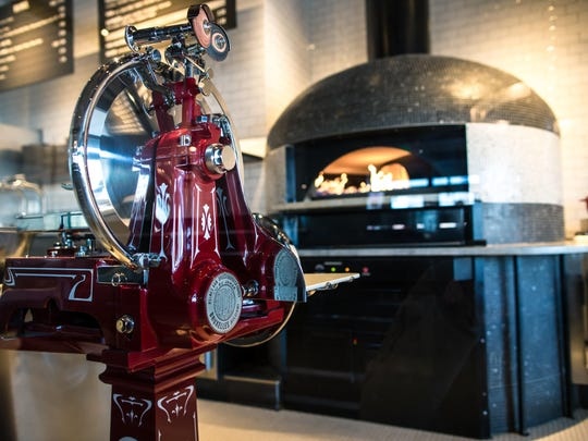 A pizza oven at Pizzeria Locale.