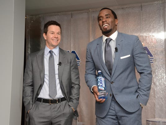 Sean Combs And Mark Wahlberg Host Press Conference To Announce Their Newest Venture, Water Brand Aquahydrate