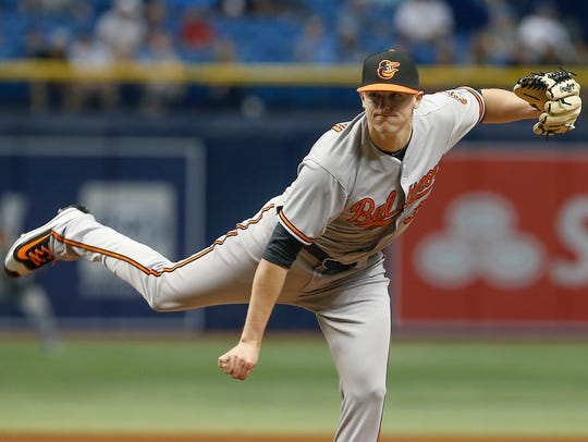 Baltimore Orioles relief pitcher Brad Brach, a Freehold
