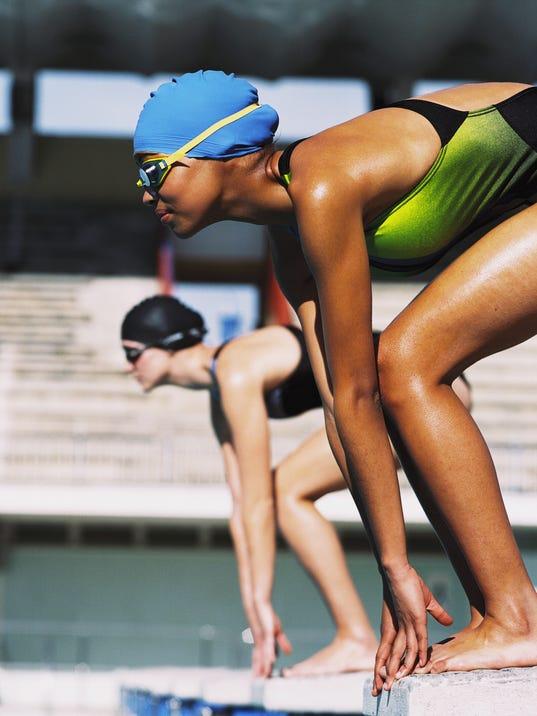 FMN Stock Image Swimming