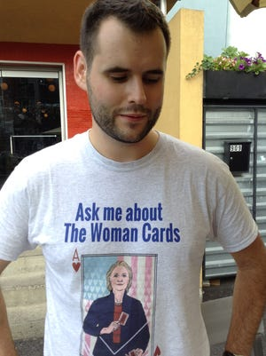 "Iowa DNC delegate Zach Wahls, 25, paid for his convention trip with ""The Woman Cards."""