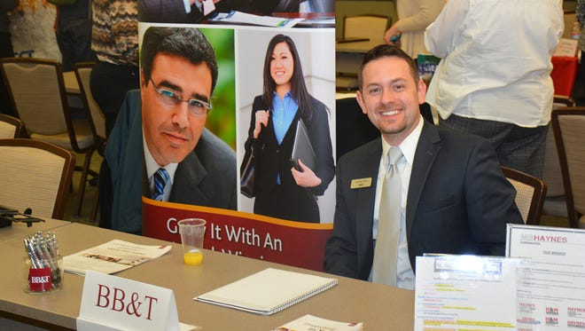 BB&T was among the employers at a previous SCC-sponsored job fair. The next fair is March 31.