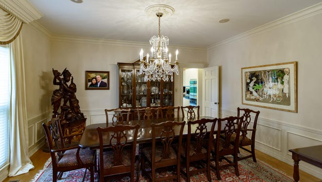 The dining room at 5410 Briarcliff Circle.