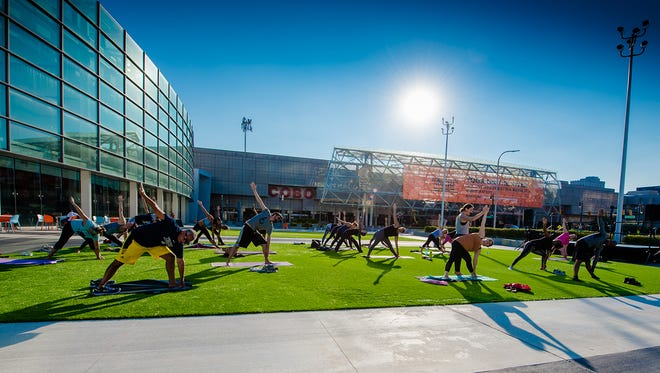 Find Your Center: City Yoga event from Sept. 20, 2017 was instructed by Citizen Yoga.
