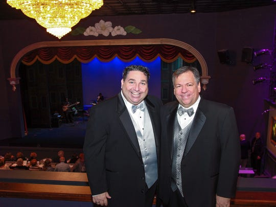 Steven J. Heron and Doug Lebo at the Titusville Playhouse 50th Anniversary Gala in 2014.