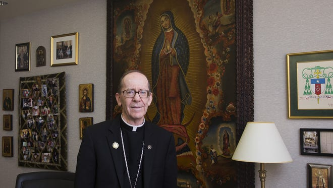 The Most Rev. Thomas Olmsted is announcing the Phoenix diocese's largest-ever campaign at Masses and receptions in Flagstaff and Phoenix, though the fundraising initiative actually was launched at midyear and will continue through June 2020.