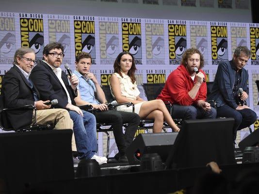 Steven Spielberg,Ernest Cline,Tye Sheridan,Olivia Cooke,T.J. Miller,Ben Mendelsohn,Zak Penn