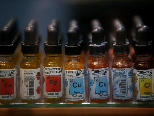 Bottles of E-Juice that is used in E-Cigarettes or