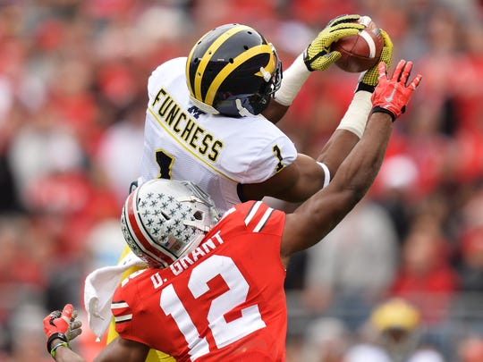 Michigan receiver Devin Funchess projects to a tight end in the NFL.