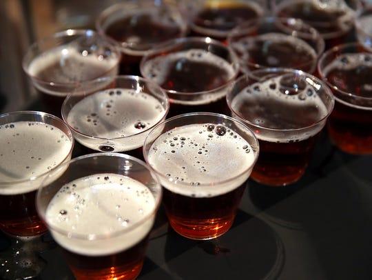 Samples of beer.