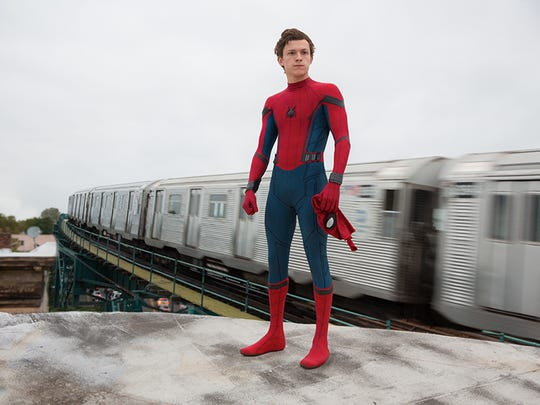 Tom Holland stars as Spider-Man in Columbia Pictures'