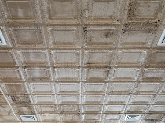 Ornate ceilings that will be restored