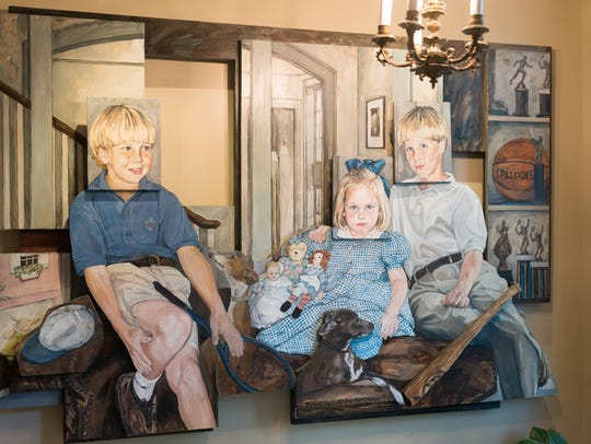 3 dimensional painting of the Ledbetter's children