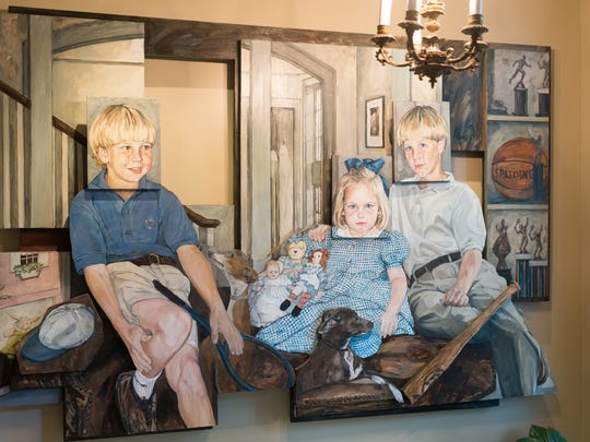 3 dimensional painting of the Ledbetter's children