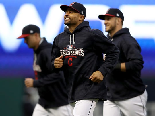 Coco Crisp (center) was recently hired to coach baseball at Shadow Hills High School.
