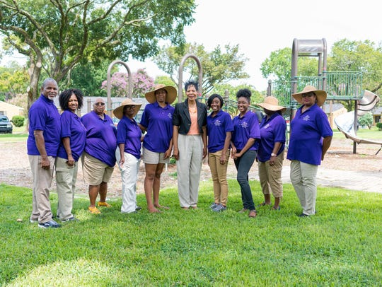Pat Moore and staff from the Monroe Housing Authority