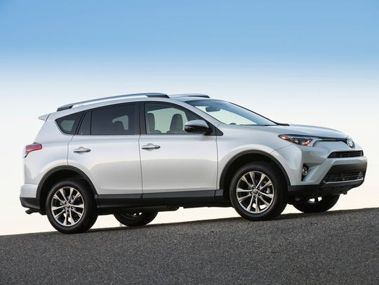 This photo provided by Toyota shows the Toyota RAV4,