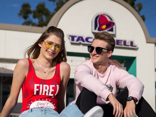 "Taco Bell fans Brittany Creech, wearing the ""Don't"