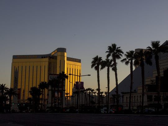 The Mandalay Bay Resort and Casino is pictured on Tuesday,