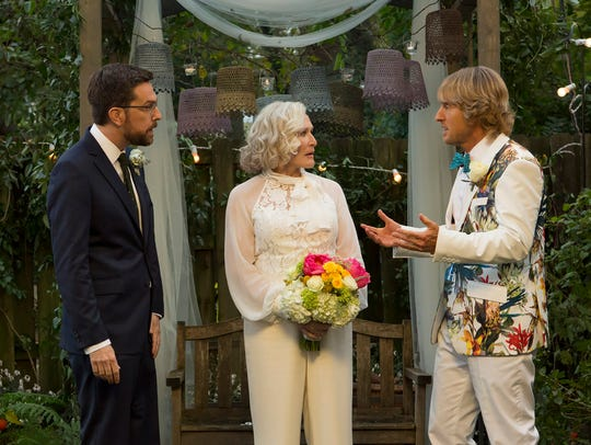 Ed Helms (far left) and Owen Wilson star as brothers