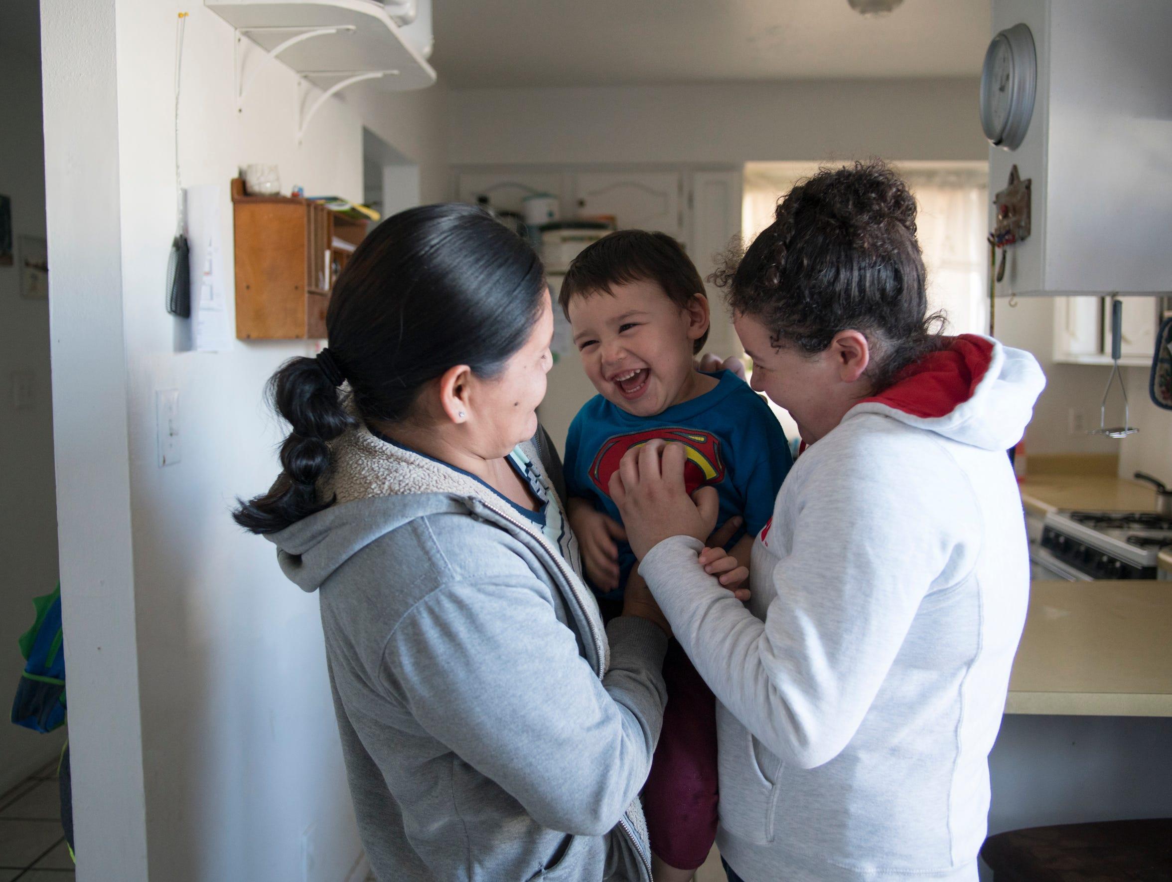 Rhonda Ramirez, her son Josiah Lucero and her boyfriend's