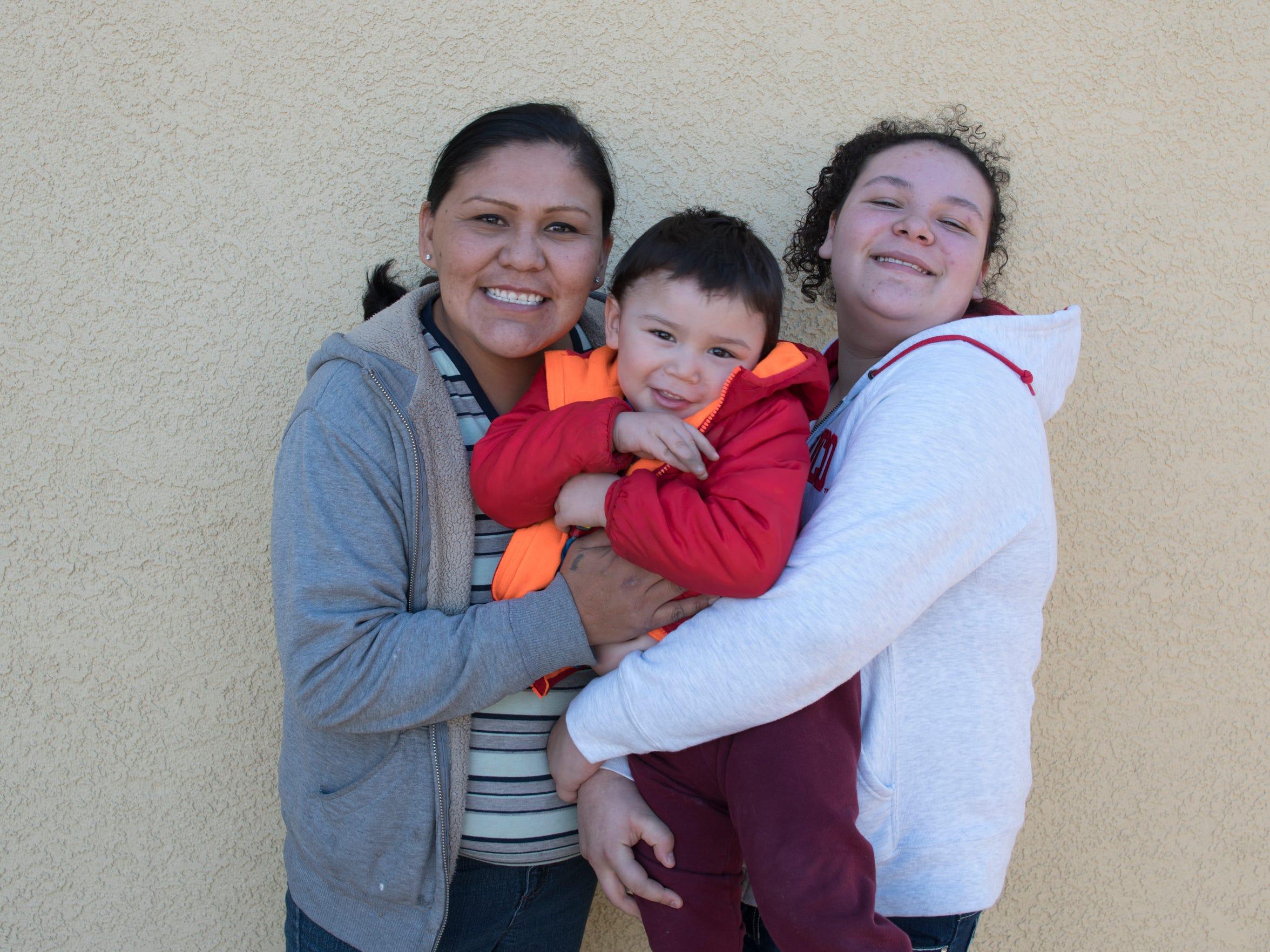 Rhonda Ramirez, Josiah Lucero and Jade Lucero in Albuquerque