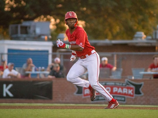 UL's Todd Lott sprints to second base as the Ragin'