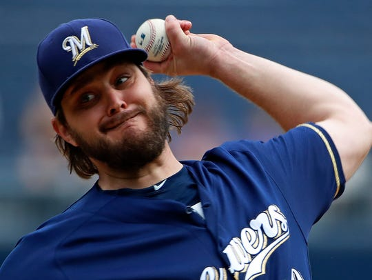 Wade Miley pitched for the Brewers for one season.