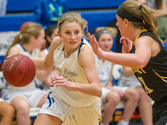 Bondurant-Farrar girls basketball team hosted Winterset