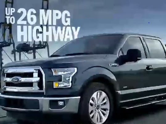 new ford f 150 ads tout fuel economy. Black Bedroom Furniture Sets. Home Design Ideas