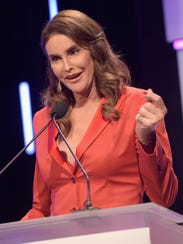 TV personality and activist Caitlyn Jenner speaks onstage