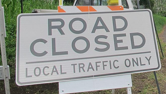 Closures affect West Gregory Street and North Spring Street.