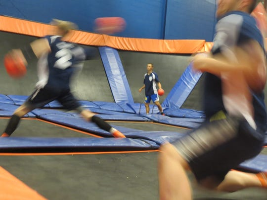 Sky Zone in Canton remains a great place to get the jump on summer fun -- including Ultimate Dodgeball (above).