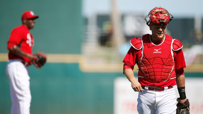 Reds catcher Devin Mesoraco should be ready by spring training.